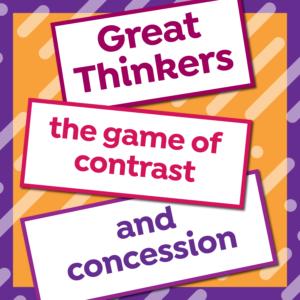 esl-expertz-esl-game-great-thinkers-esl-expertz-esl-english-teaching-resources-for-teachers-conversation-activity-game-skill-B1-B2-connectors-logic