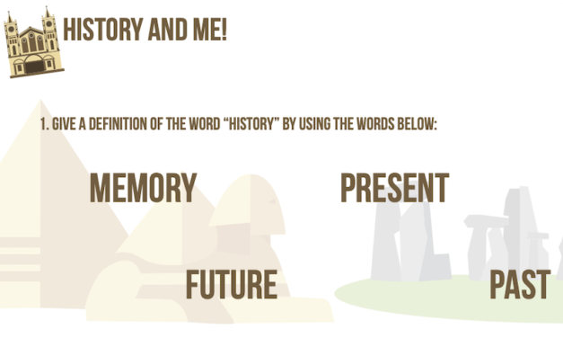 History and me! – a discussion worksheet